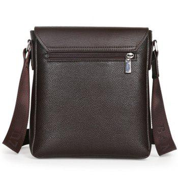 Simple Dark Color and Letter Design Men's Messenger Bag -  BROWN