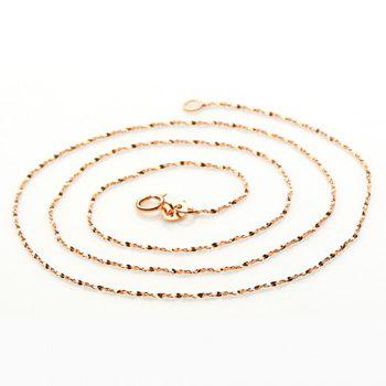 Sequins Gold Plated Chain Necklace