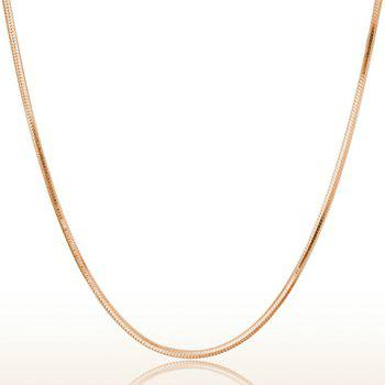 Alloy Plated Snake Chain Necklace