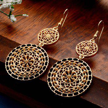 Filagree Flower Round Drop Earrings