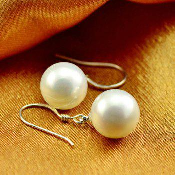 Pair of Faux Pearl Drop Earrings - WHITE