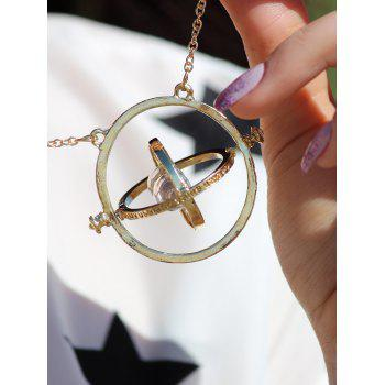 Vintage Alloy Sand Clock Pendant Necklace - AS THE PICTURE AS THE PICTURE