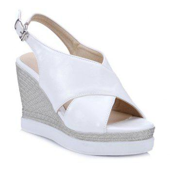 Espadrille Wedge Slingback Sandals