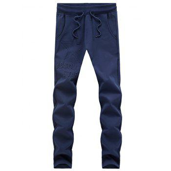 Slimming Solid Color Lace Up Sport Pants For Men
