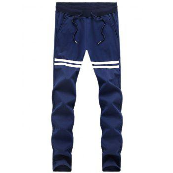 Slimming Striped Lace Up Sport Pants For Men