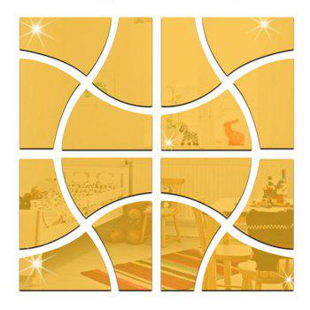 Chic DIY Square Shape Mirror Wall Stickers For Livingroom Bedroom Decoration - GOLDEN