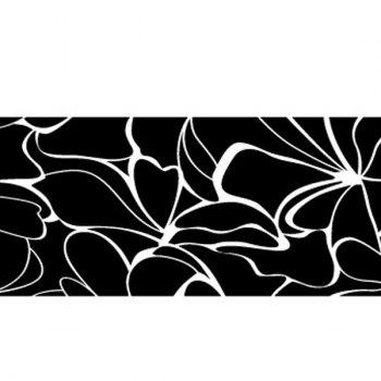 Chic Flowers Striped Pattern Mirror Wall Stickers For Livingroom Bedroom Decoration - SILVER