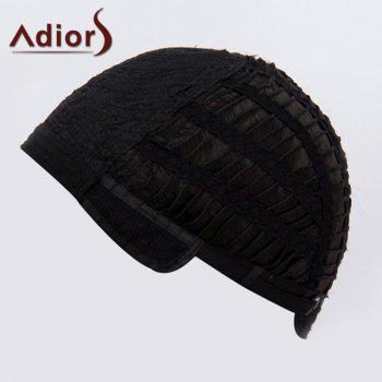 Fashion Silky Straight Middle Part Capless Medium Black Synthetic Adiors Wig For Women - BLACK