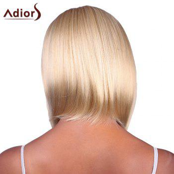 Bob Style Blonde Mixed Synthetic Fashion Short Straight Capless Adiors Wig For Women - GOLDEN BROWN/BLONDE