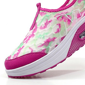 Casual Color Block and Slip-On Design Women's Sneakers - ROSE 40