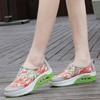 Casual Color Block and Slip-On Design Women's Sneakers - GREEN 39