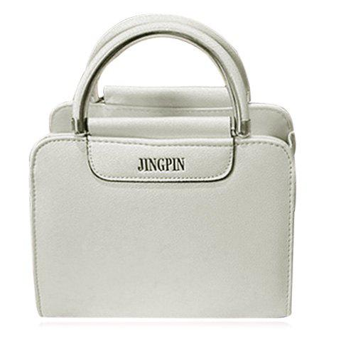 Concise Candy Color and Letter Design Women's Tote Bag - WHITE
