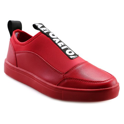 Fashionable Letter and Slip-On Design Men's Casual Shoes - RED 39