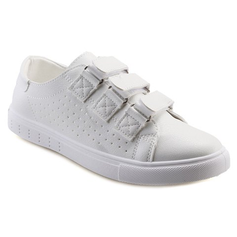Concise  and Solid Color Design Men's Casual Shoes - WHITE 41