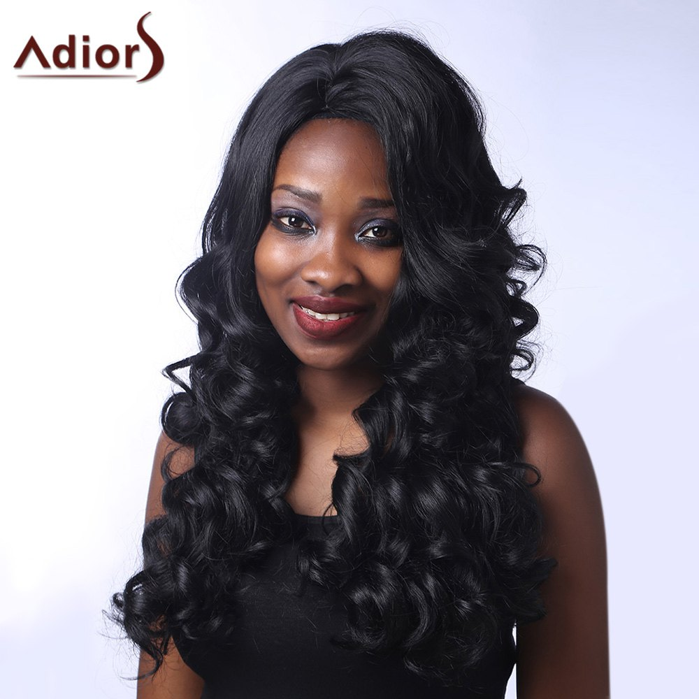 Outstanding Long Side Parting Fluffy Curly Black Women's Synthetic Adiors Wig пылесос nilfisk handy 2 in 1 18v black