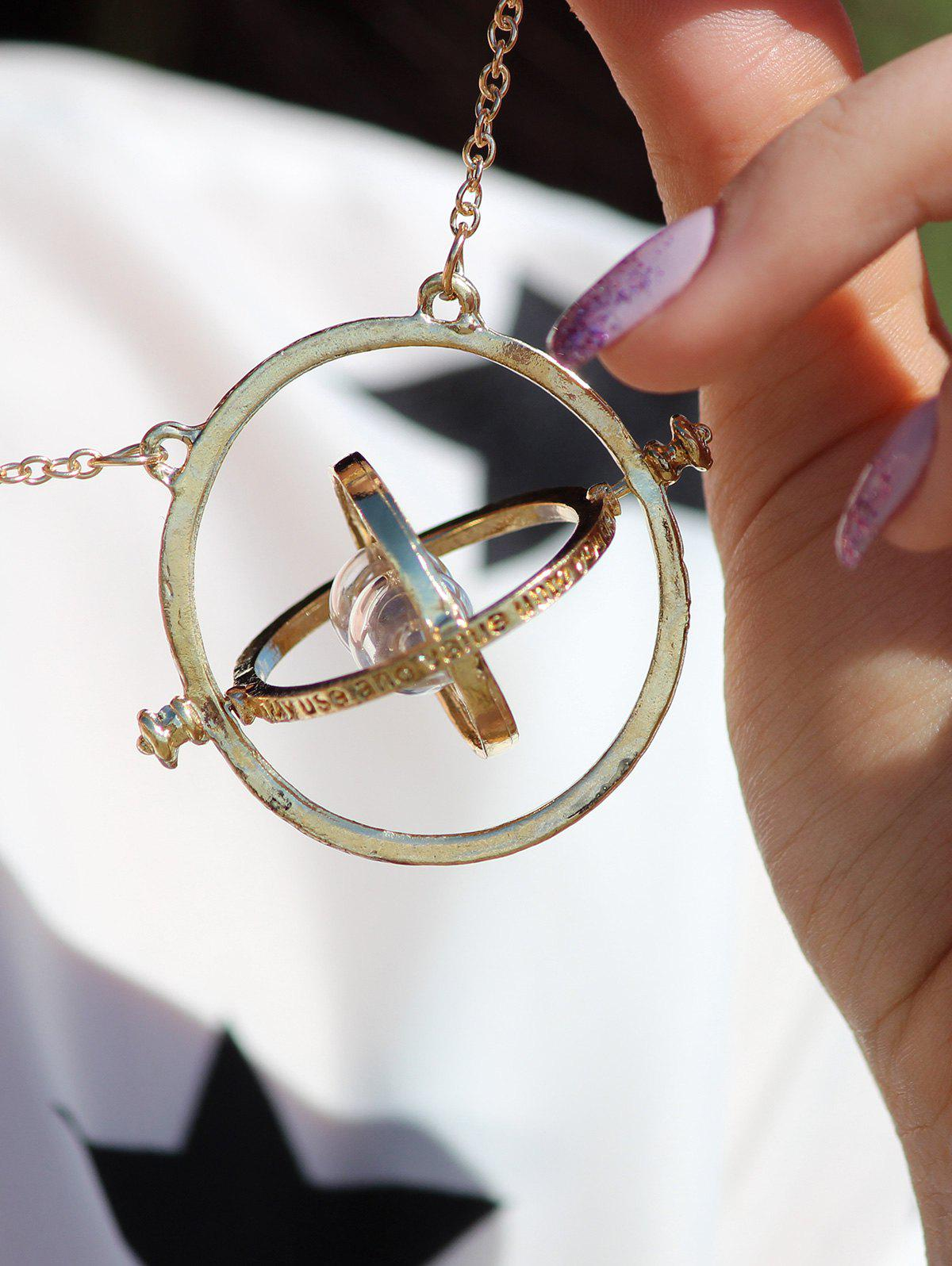 Vintage Alloy Sand Clock Pendant Necklace