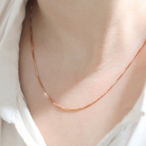 Alloy Gold Plated Box Chain Necklace - GOLDEN