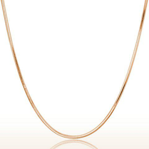 Alloy Plated Snake Chain Necklace - GOLDEN