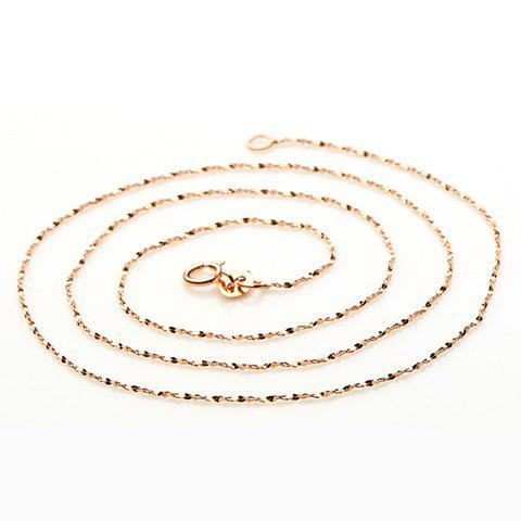 Sequins Gold Plated Chain Necklace - GOLDEN