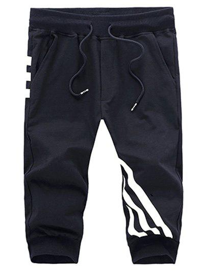 Casual Men's Striped Printed Sports Shorts