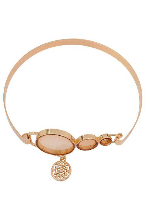 Chic Round Pendant Alloy Necklace For Women - GOLDEN