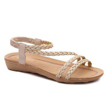 Simple Flat Heel and Weaving Design Women's Sandals