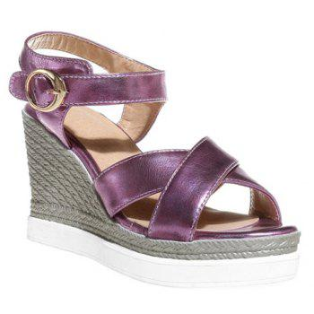 Sandals Fashion Cross Strap et talon compensé design Femmes  's