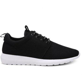 Stylish Solid Colour and Breathable Design Men's Athletic Shoes - 41 41