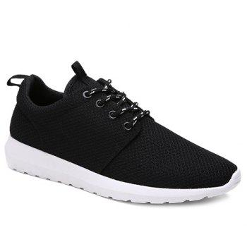 Stylish Solid Colour and Breathable Design Men's Athletic Shoes