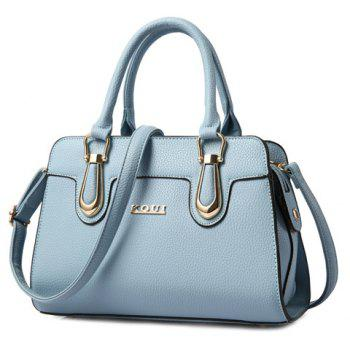 Trendy Solid Color and Metal Design Women's Tote Bag