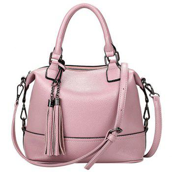 Fashionable Tassels and Solid Color Design Women's Tote Bag