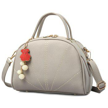 Trendy Solid Color and Stitching Design Women's Shoulder Bag