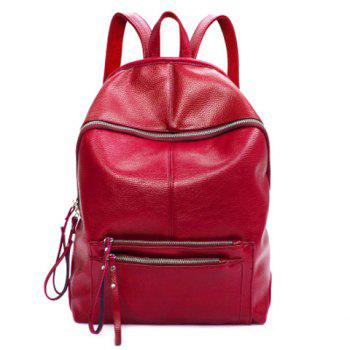 Fashion Solid Color and Zip Design Women's Satchel