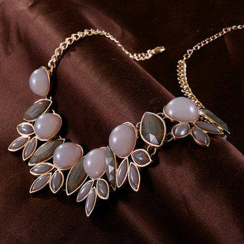 Hollow Out Leaf Fake Collar Necklace - GOLDEN