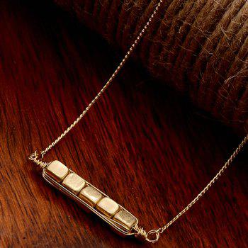 Alloy Dice Shape Embellished Necklace - GOLDEN