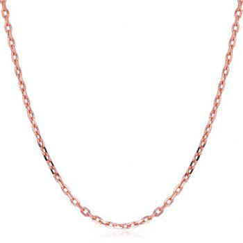 Solid Color Link Chain Necklace For Women