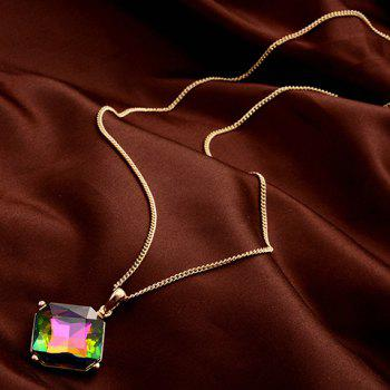 Chic Colorful Rhinestone Inlay Pendant Women's Sweater Chain -  GOLDEN