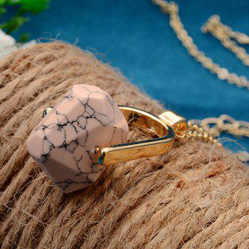 Fake Turquoise Hollowed Sweater Chain -  PINK