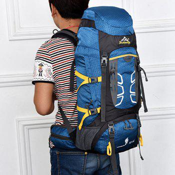 High Quality 55L Large Capacity Travel Hiking Backpack Waterproof Outdoor Climbing Bag -  ROYAL BLUE
