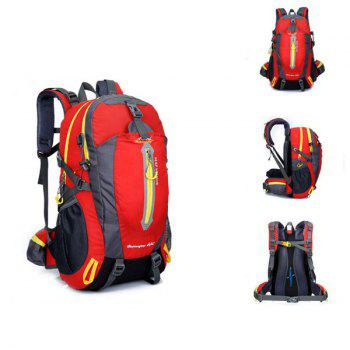 High Quality Multifunctional Travel Hiking Backpack Waterproof Outdoor Climbing Bag - RED RED