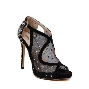 Party Gauze and Rhinestone Design Sandals For Women