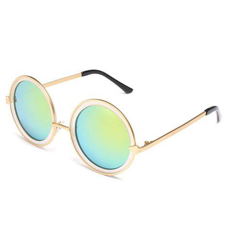 Chic Arrow Shape Embellished Golden and White Frame Women's Sunglasses - GREEN
