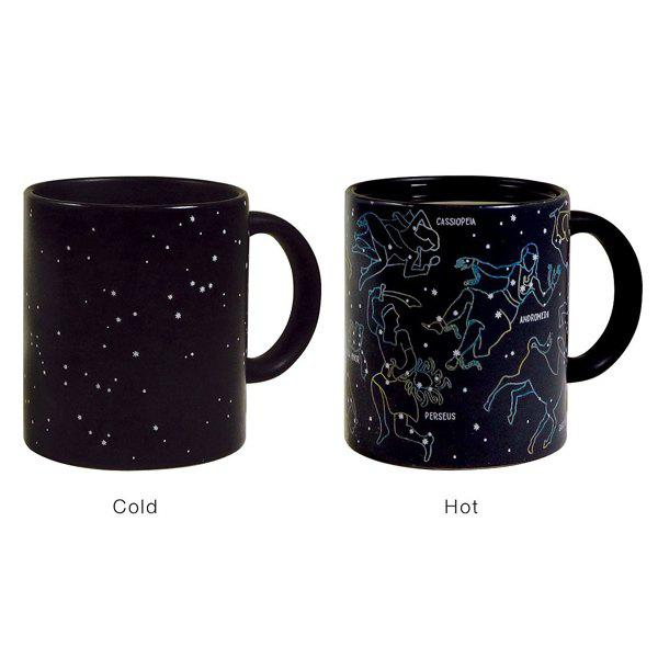 High Quality Novelty Office Tea Coffee Cup Constellation Pattern Color Changing Ceramic Mug novelty office tea coffee cup floral skull pattern color changing ceramic mug