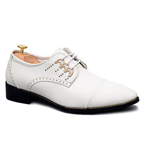 Trendy Lace-Up and Metal Design Men's Formal Shoes