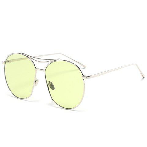 Chic Irregular Silver Alloy Round Frame Women's Sunglasses