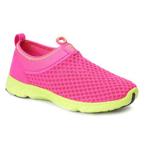 Fashionable Breathable and Solid Color Design Women's Athletic Shoes - ROSE 37