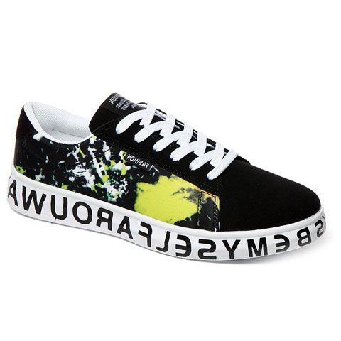 Stylish Multicolor and Suede Design Men's Casual Shoes - BLACK 42