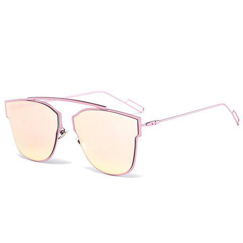 Chic Irregular Alloy Frame Women's Pink Sunglasses - PINK