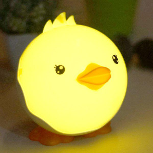 High Quality USB Cartoon Little Duck Shape Night Light Touching Switch Bedside LED LampHome<br><br><br>Color: YELLOW