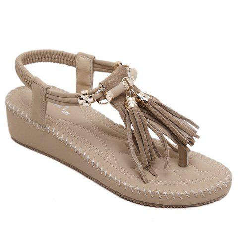 Fashionable Metal and Tassels Design Women's Sandals